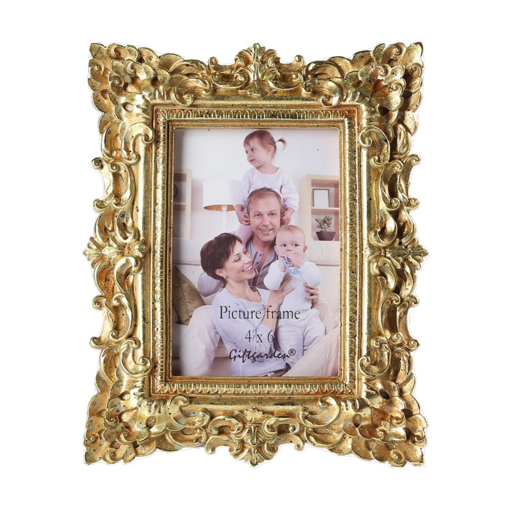 giftgarden 4x6 vintage photo frames gold picture frame wedding gift home decor in frame from. Black Bedroom Furniture Sets. Home Design Ideas
