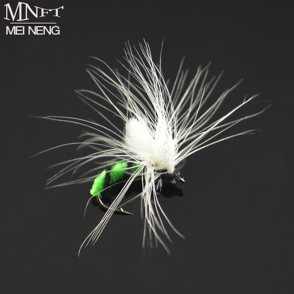 MNFT 6PCS 11# Pure White Wing Nymph Pheasant Hand Made Fly Fishing Flies Fishing Hook Dry Fly Lures