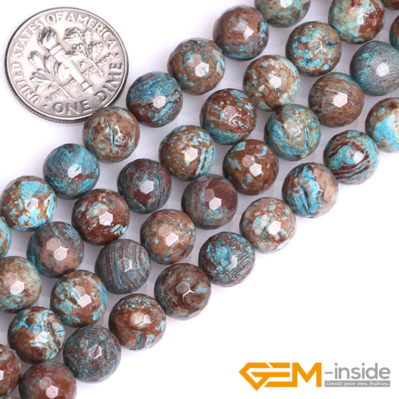 Crazy Lace Agate Faceted Round Beads 6mm Pale Grey//White 60 Pcs DIY Jewellery