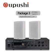Oupushi домашний музыкальный Системы 60 Вт MP3 усилитель Bluetooth музыкальный проигрыватель FM с 2-полосная настенные колонки