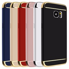 цена на For Samsung Galaxy S7 Ultra Thin Brand Gold Full Protective Cover Anti Knock Hard Plastic Case Coque For Samsung Galaxy S7