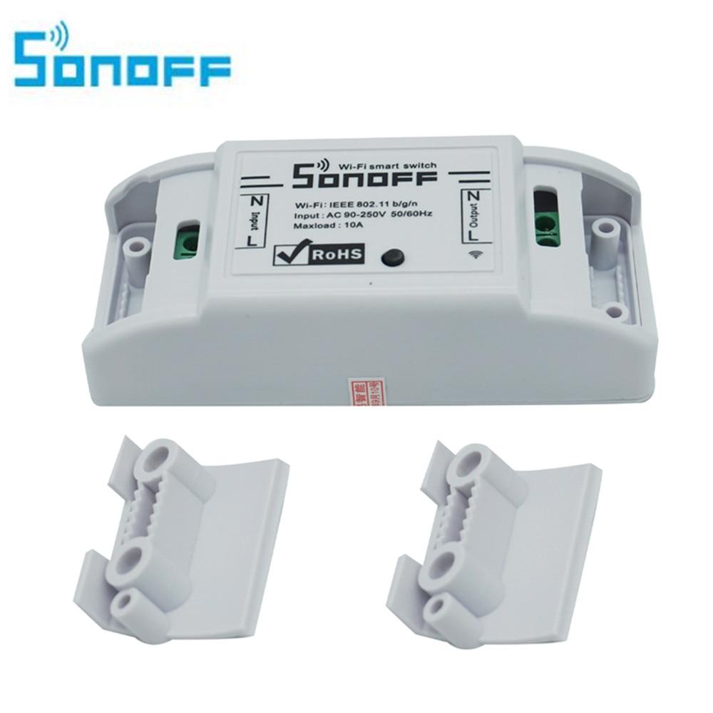 SONOFF De Base Wifi commutateur module Sans Fil Relais Commutateur Universel DIY Maison Intelligente 10A avec Sonoff IP66 Étanche Boîte de Jonction