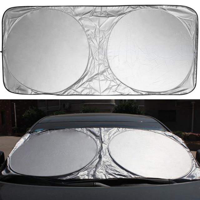 Pára brisa do carro capa janela de proteção solar frente janela traseira dobrável sombra escudo viseira uv bloco para dianteiro traseiro brisa