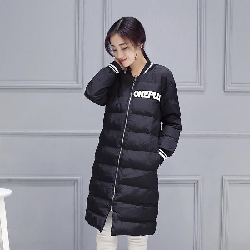 2016 yeni büyük boy pamuk Aşağı İnce Kore kadın giyim uzun-ayakta yaka moda kış coat toptan 7855