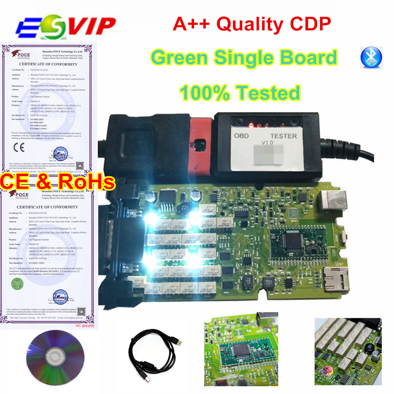 A+++ Quality Green Single Board Scanner +Generic 3 in 1 New NEC Relays bluetooth 2015 R3 keygen Diagnostic tool Scanner