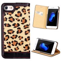 For Iphone 7 Phone Case Luxury Sex Leopard Wallet Genuine Leather Case Flip Cover With Card