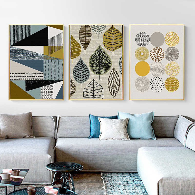 Nordic Poster Abstract Geometric Wall Art Canvas Painting Pictures for Living Room Posters Print Modern Scandinavian Home Decor