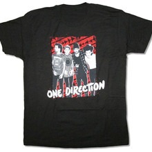 One Direction Arrows Rectangle Band Pic Black T Shirt New Of