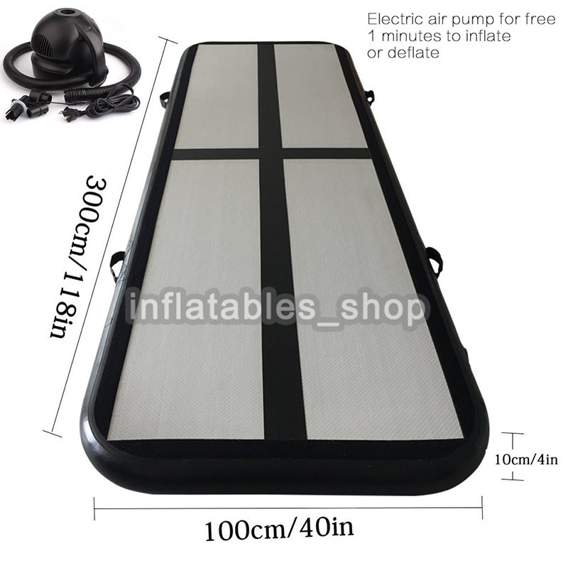 Free Shipping Free One Pump Air track Type 3x1x0.1m Mini Black Inflatable Airtrack For GymFree Shipping Free One Pump Air track Type 3x1x0.1m Mini Black Inflatable Airtrack For Gym