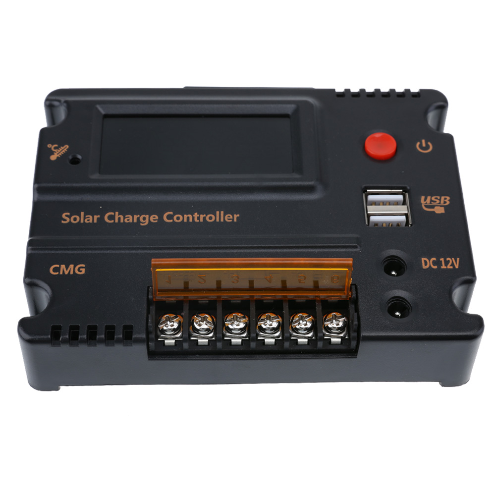 10A Solar Charge Controller Solar Panel Battery Regulator Auto Switch Solar Controller Temperature Compensation 12V/24V 20a duo battery solar regulator solar charge controller 12 24v for two battery