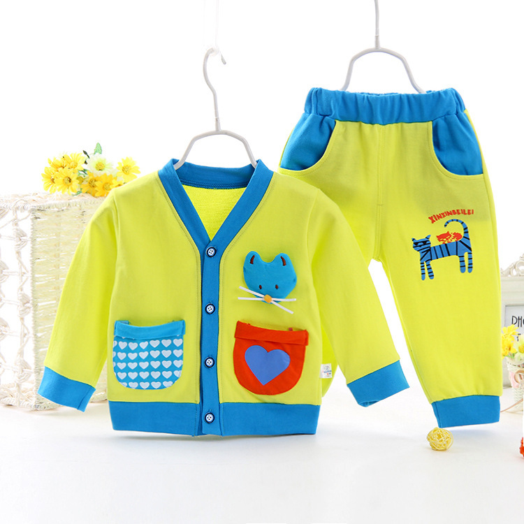 New Born Baby Clothes New Korean Baby Tracksuit Two Set Baby Boy Clothes leisure New Born Baby Clothes