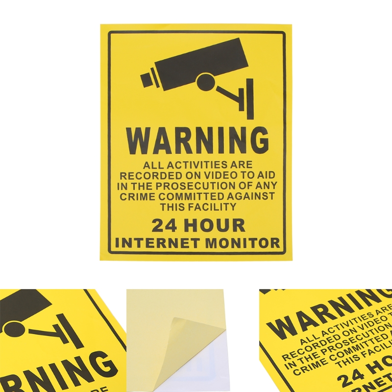 CCTV Surveillance Security 24 Hour Monitor Camera Warning Stickers Sign LablesCCTV Surveillance Security 24 Hour Monitor Camera Warning Stickers Sign Lables