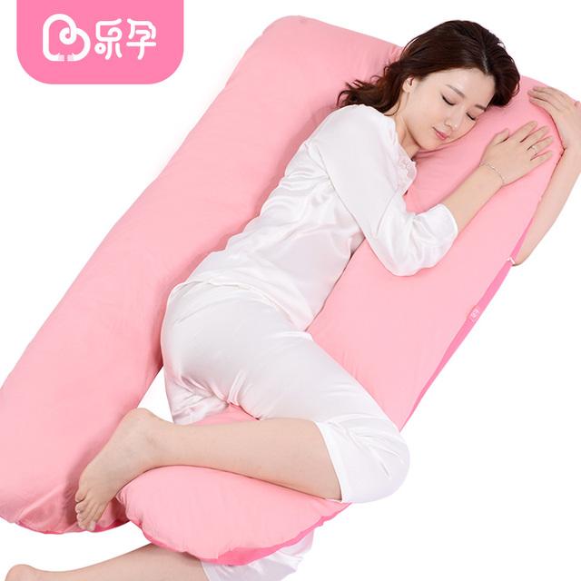 U-forma Leyun gravidez confortável travesseiro travesseiros de corpo para as mulheres maternidade travessas laterais removível almofada de apoio