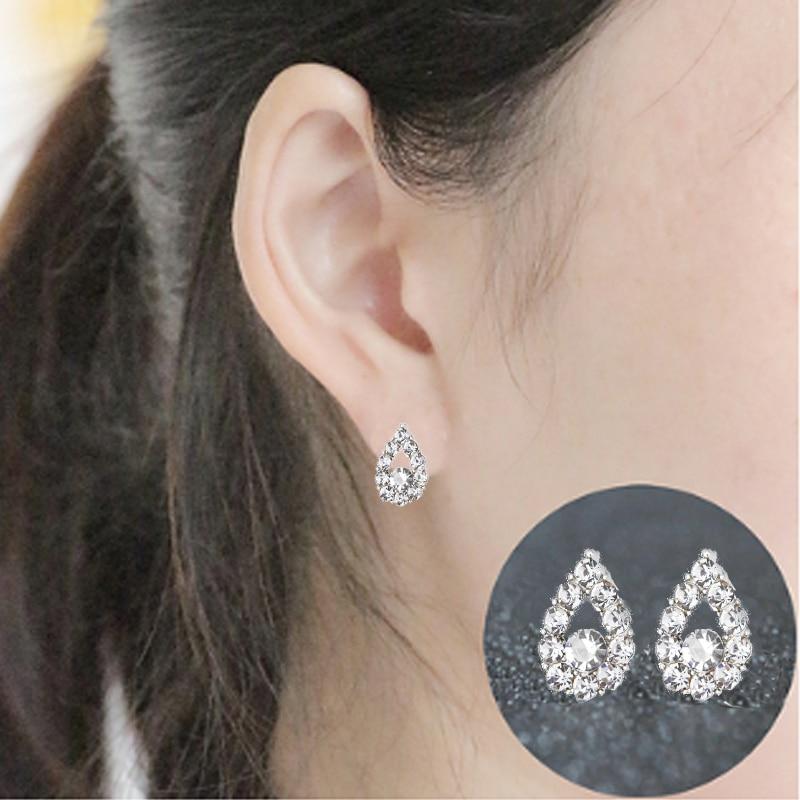 Pearl Crystal Stud Earring Erfly Snowflake Star Triangle