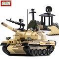 GUDI 372 + PCS Bausteine T-62 Tank Modell Block WW2 Russland Blöcke Montage Bildungs Gebäude Spielzeug Für Kinder Geschenk