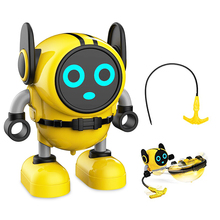 Gyro Robot Toys R7 Detachable Removable Gyroscopes Top 3-Modes Wind-up Car Launching Mode Robots Pull Back Educational Toy