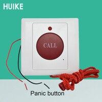 10 pces botão de chamada de emergência normalmente aberto sinal 86mm tamanho corda estilo botão de pânico sistema de alarme restauração automática