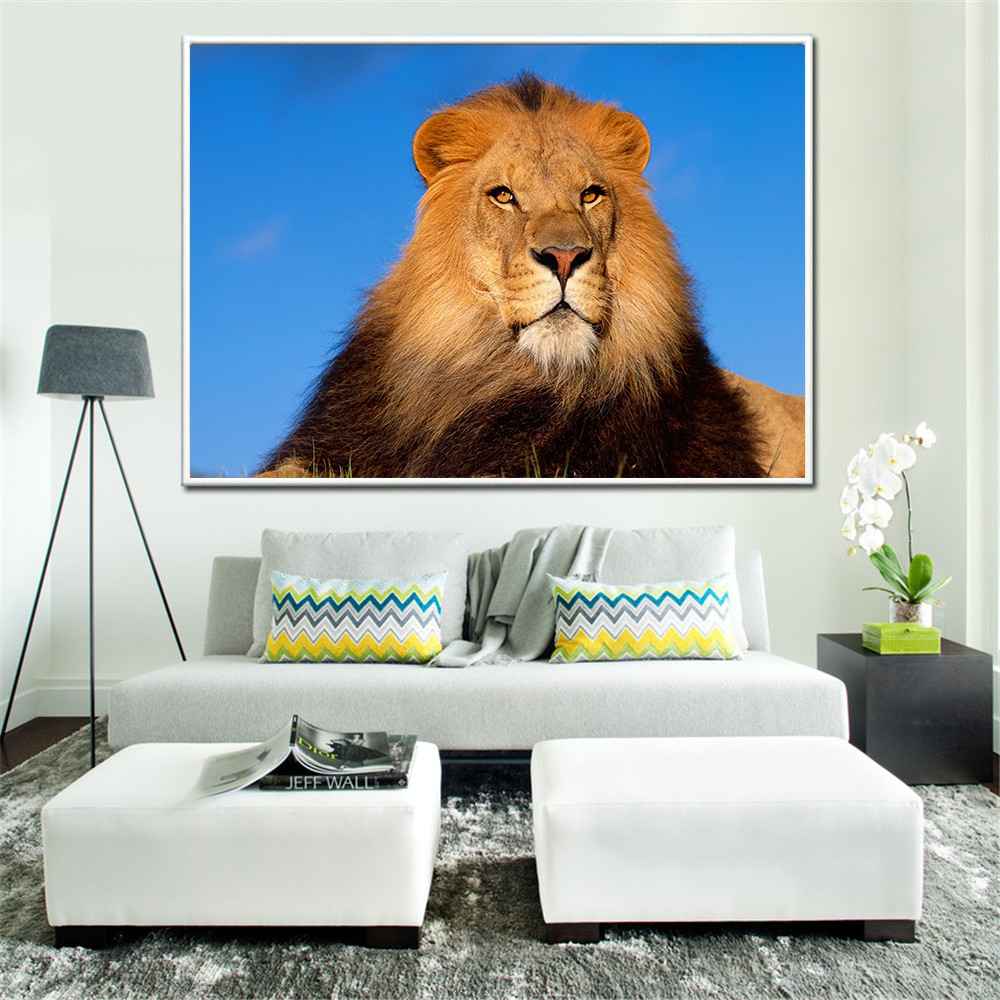 Wall Poster Lion Lioness Aggression Wall Pictures for Living Room Home Decor Animals Posters and Prints Cuadros Decoracion Salon