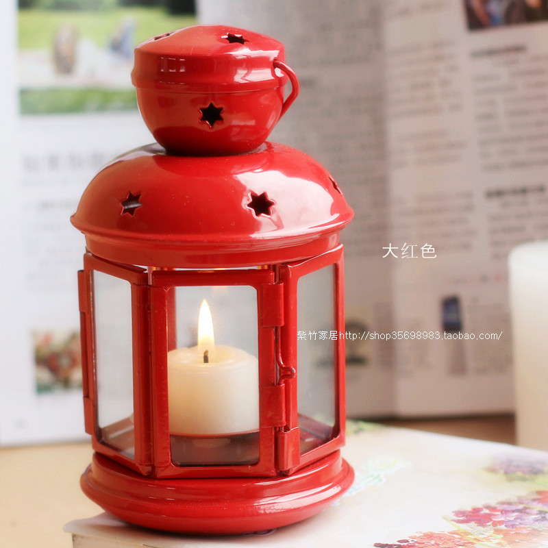 Ikea Candlestick Candle Holder Clic European Red Lantern Wedding Supplies Photography Props In Candles From Home Garden On