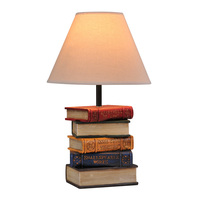 Modern Resin Books Desk Lighting Fixtures Table Creative White fabric Shade Bedsides table lights Reading room bedroom desk Lamp