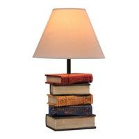 Modern Resin Books Desk Lighting Fixtures Table Creative White fabric Shade Bedsides table lights Reading room bedroom desk Lamp