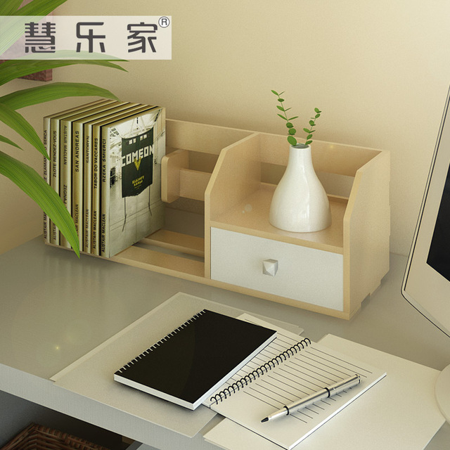 Hui Roca Office Storage Rack Simple Small Bookshelf Minimalist Desktop Display Shelving Child 11009