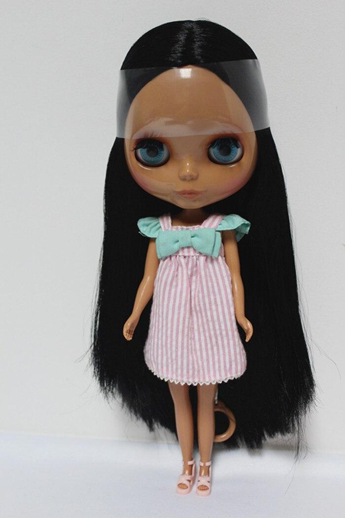 Бесплатная доставка Большая скидка rbl-128diy телесного цвета blyth кукла подарок на день рождения для девочек 4 цвета большие глаза куклы с красив...