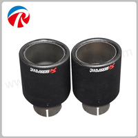 Carbon Fiber Trimming Stainless Steel Universal Car Exhaust Pipe Tip 63mm 101mm Akrapovic Car Exhaust System