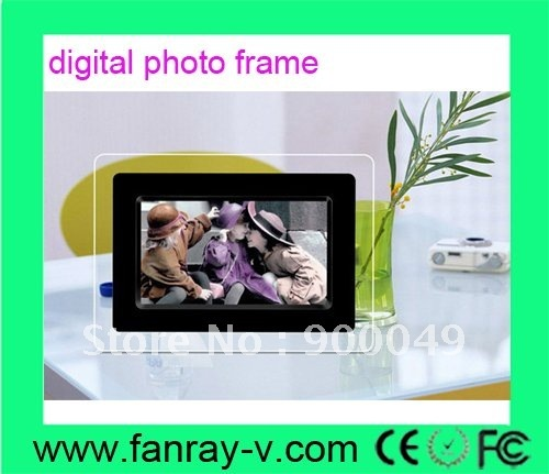 7inch battery powered digital photo frame, high quality