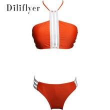 Купить с кэшбэком New Sexy Women Swimwear Push Up Swimsuit Halter Top Biquini Bathing Suits Beach Wear M93