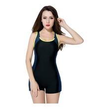 2017 plus size S-5XL Size sports racing bodysuit X-Back women boyshorts swimwear push up padded professional swimsuit