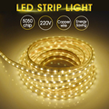 Goodland Waterproof LED Strip Light 220V SMD5050 Flexible Light Tape Ribbon Lamp 1/2/3/4/5/10m 60LEDs/m Home Decorate Lighting