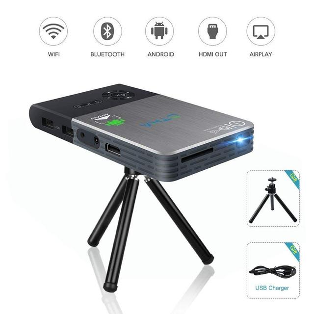Special Price OTHA Android DLP LED Mini Projector Built in 5000mAh Battery Wifi Wireless Home Cinema Android Portable Projectors
