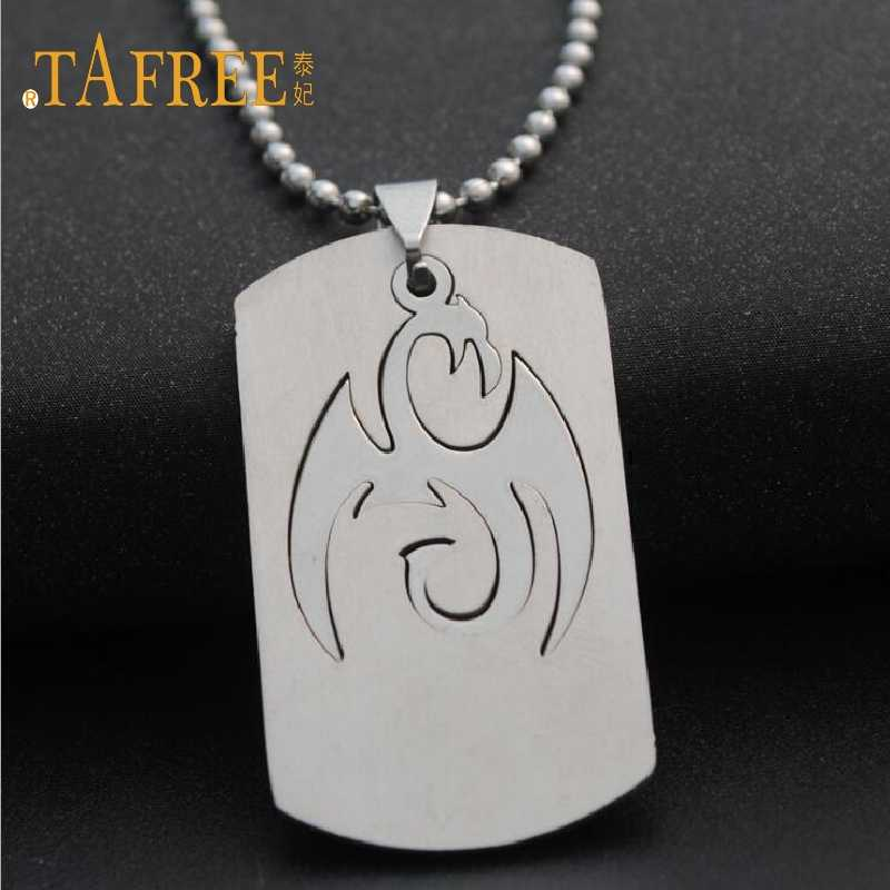 TAFREE Fashion Necklaces Stainless Steel Animal graphics Pendants Simple  Bead Chain Necklaces for Women gift jewelry  SQ038