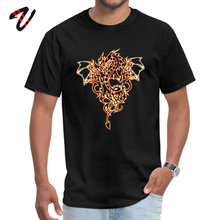 Dragon Fire Dark All Icon T-Shirt for Men Short Lovecraft Tops T Shirt Fashionable ostern Day O Neck Group
