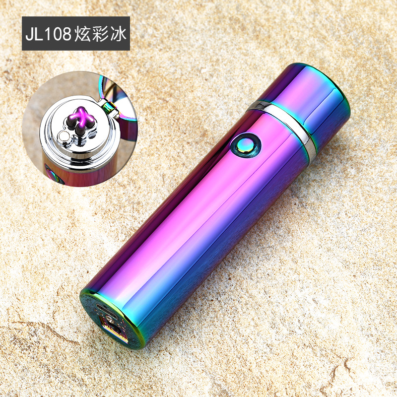Usb Charging Cigarette Cigar Double Arc Plasma Lighter Creative Electronic Pulse Metal Lighters Tobacco Weed Smoke Hookah image