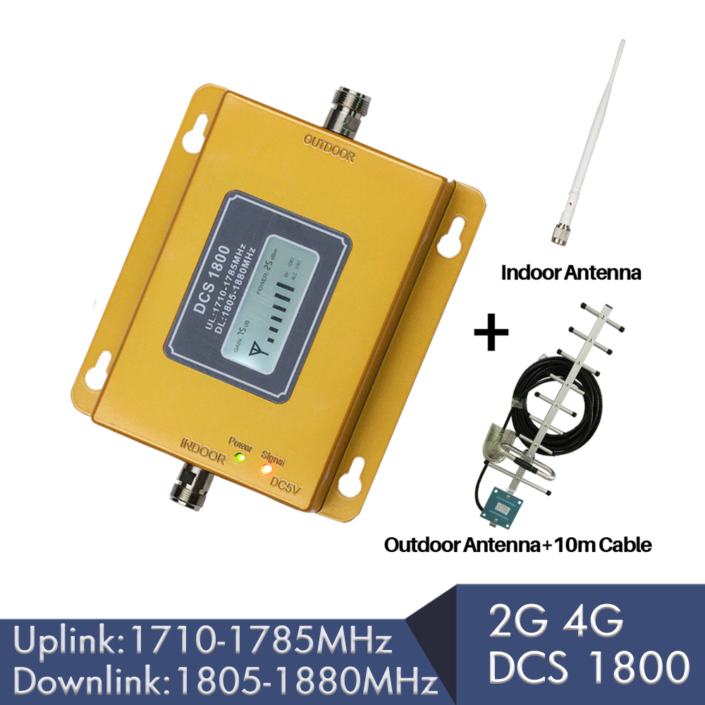 2G 4G Cellular Signal Repeater DCS LTE 1800mhz Mobile Signal Booster 75dB Gain LCD Display Band 3 FDD 4G LTE Amplifier full set2G 4G Cellular Signal Repeater DCS LTE 1800mhz Mobile Signal Booster 75dB Gain LCD Display Band 3 FDD 4G LTE Amplifier full set