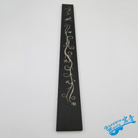 African Ebony Wood Dragonfly Pattern Acrylic Color Shell Mosaic Fingerboard Guitar Fingerboard Guitar Making Wood Material