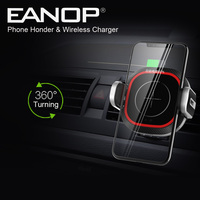 EANOP CH200 Car Mobile Holder Dashboard Pop socket black automatic clamping wireless car charger mount for Mobile phones