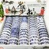 2017 New 1x 60rolls Washi Tape Set Blue And White Porcelain Patterned Japanese Stationery Masking Tape