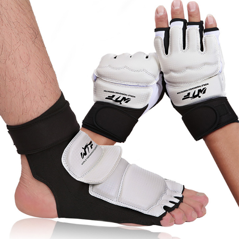 Shock Absorption Taekwondo WTF ITF Ankle Protector Palm Protect Guard Judo Wesing Martial Arts Gloves Boxing Karate Equipment Shock Absorption Taekwondo WTF ITF Ankle Protector Palm Protect Guard Judo Wesing Martial Arts Gloves Boxing Karate Equipment