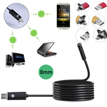 Mini Endoscope Camera AN99 with 720p HD Endoscope 2 in 1 USB Cable 8mm 2M Endoskop IOS Android Waterproof Camcoder Microscoping