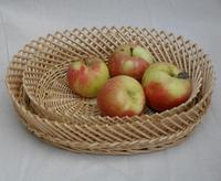 Free Shipping Storage Baskets Rattan Basket Bread Food Basket Fruit Bowl Candy Dish Snack Woven Storage