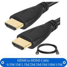 Высокая Скорость HDMI к HDMI кабель 0.5 м 1 м 1.5 м 2 м 3 м 5 м 10 м 15 м позолоченный штекер кабеля HDMI 1.4 версии 1080 P 3D Для HDTV Xbox PS3