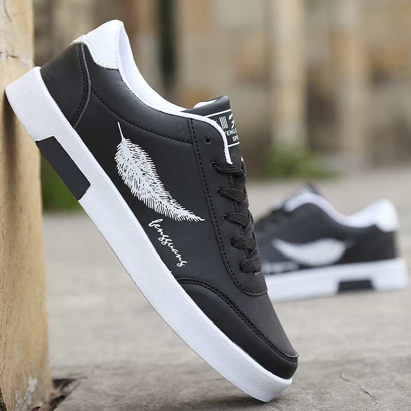 New Men Casual Shoes Flats Fashion Spring  Casual Sports Shoes Men Breathable Black Casual Men Shoes White