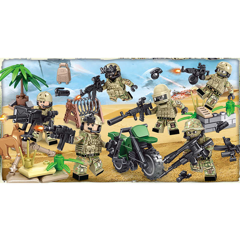 WW2 Soviet Union Spetsnaz Alpha brickmania figure building block world war russia army Special Force minifigs motorcycle gun toy