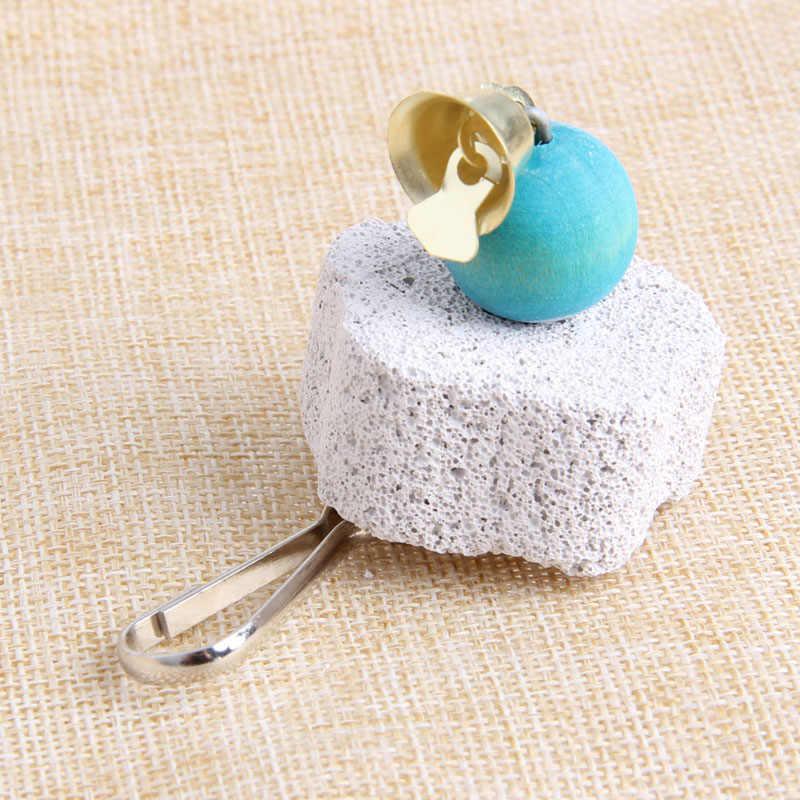 Papuga usta kamień szlifierski trzonowce kamień sznurek do zawieszania zabawka do żucia dla ptaków