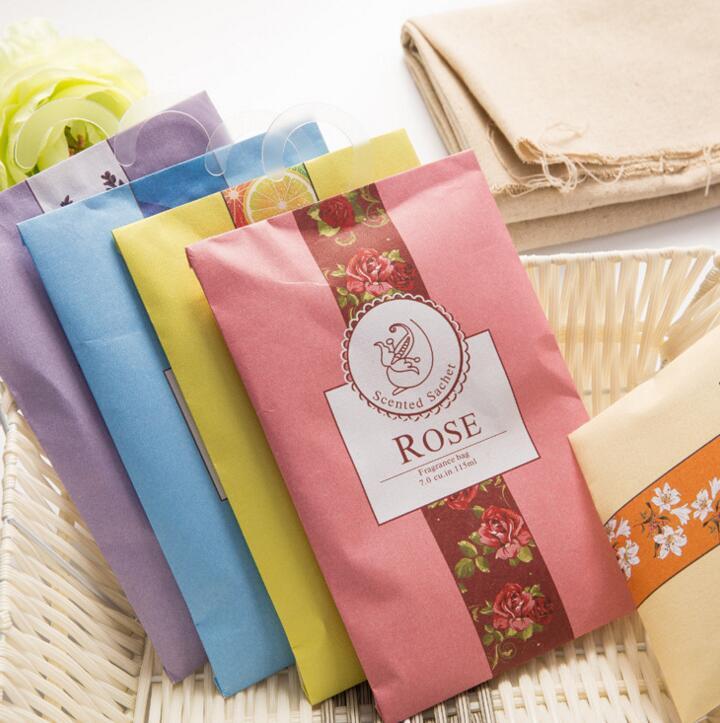 Aromatherapy Natural Smell Incense Wardrobe Sachet Air Fresh Scent Bag  Perfume Vanilla Roselily Lavender(China