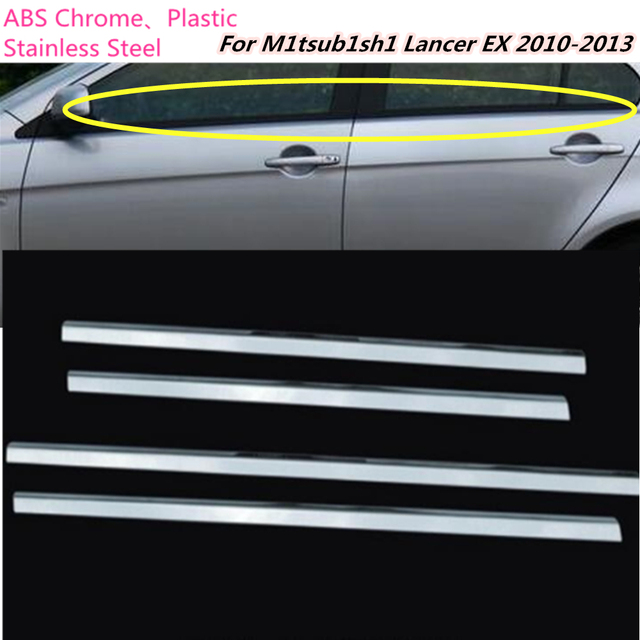 Car body cover stick stainless steel glass window garnish pillar car body cover stick stainless steel glass window garnish pillar trims hoods for mitsubishi lancer ex planetlyrics Gallery