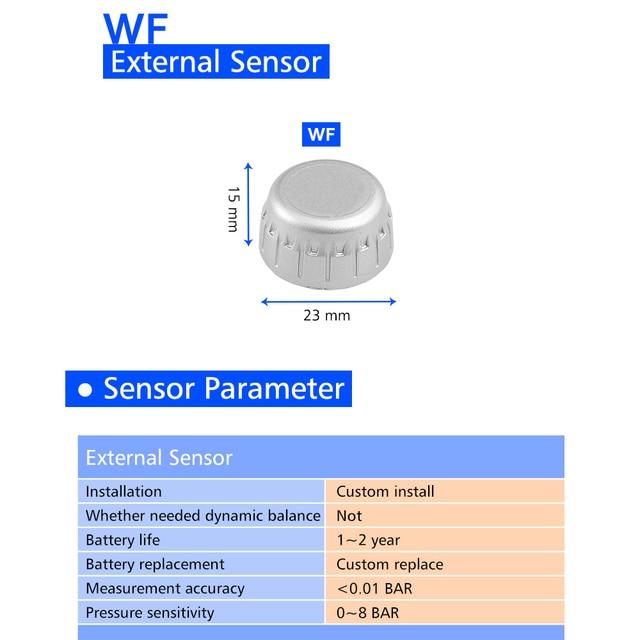 U906C Car Tire Pressure Monitoring System TPMS Tyre Pressure Sensor Auto Inspection Device LCD Display Dual USB Charging Port 5